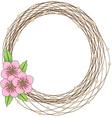 floral frame flower Wreaths vector image