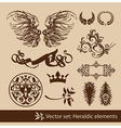 heraldy elements vector image