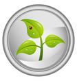 button with a green tree vector image
