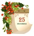 christmas tear-off calendar vector image