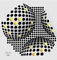 Halftone balls abstract background vector image
