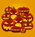 horror halloween pumpkin vector image