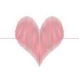 love wave heart vector image