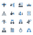 Management and Business Icons - Blue Series vector image