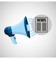 megaphone concept news template design vector image