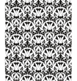White seamless pattern silhouette vector image