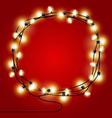 Frame of shining Christmas Lights garlands vector image