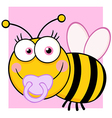 Summer bumble bee collecting honey vector image vector image