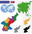 North Korea map vector image