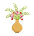 Flower vase vector image