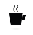 cup of coffee black vector image
