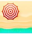 Beach top view umbrella vector image