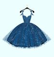 Blue party dress vector image