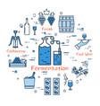 blue round fermentation concept vector image