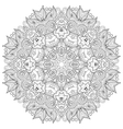 coloring book page for adults - zendala joy to vector image