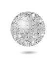 grey mosaic sphere vector image