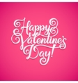 Happy Valentines Day Vintage Card With vector image