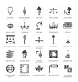 light fixture lamps flat glyph icons home and vector image
