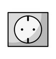 line outlet energy to technology electrical vector image