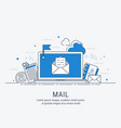 mail line art vector image
