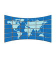 map on screens vector image