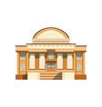 public building facade theatre bank or shop vector image