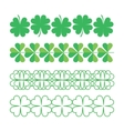 Set of clover ornaments vector image