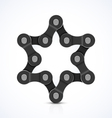 Star of David made of chain vector image
