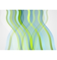 Abstract minimal blue green wavy design vector image vector image