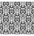 White seamless pattern silhouette vector image vector image