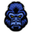 mascot of gorilla head vector image