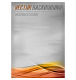 background orange layout bottom vector image vector image