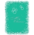 Christmas frame with snowflakes over green vector image vector image