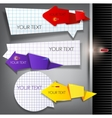 paper arrows on a gray background with place for t vector image