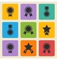black medalaward icons set vector image