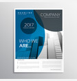 blue business brochure cover page template design vector image