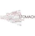 dyspepsia word cloud concept vector image