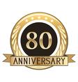 Eighty Year Anniversary Badge vector image