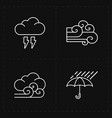 four flat modern weather icons vector image