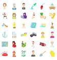 recruitment icons set cartoon style vector image