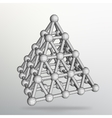 Triangle geometrical background Abstract 3d vector image