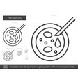 Petri dish line icon vector image