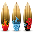 wooden surf boards vector image