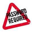 password required rubber stamp vector image