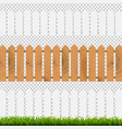 green grass and fenses vector image vector image