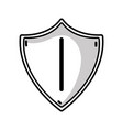 line security shield to technology protection icon vector image