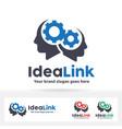 idea link logo vector image