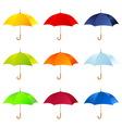 Set of umbrellas vector image vector image