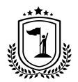 Championship design vector image