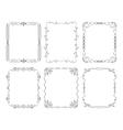 6 black rectangular frames vector image